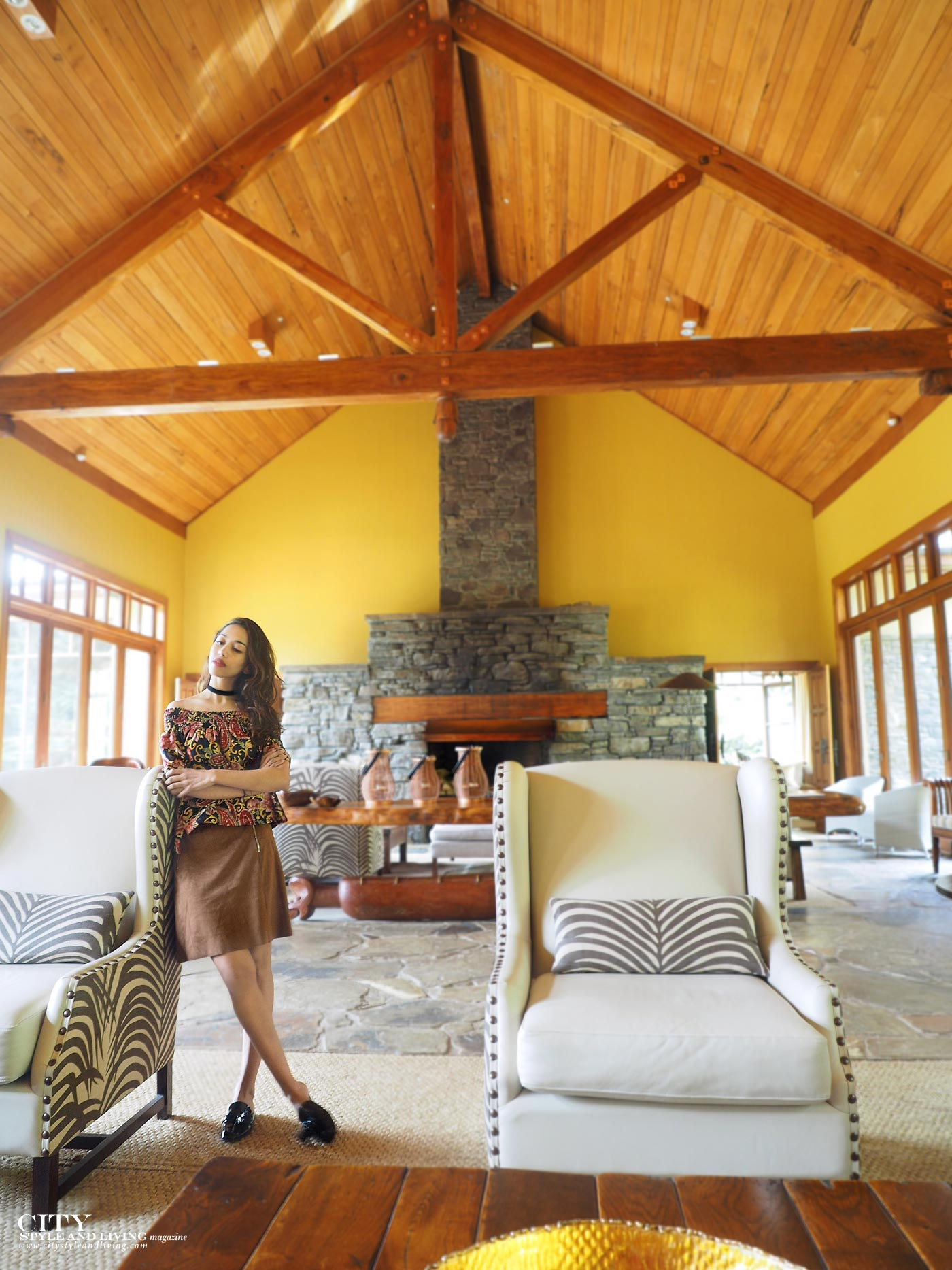 City style and living magazine The Editors Notebook style fashion blogger Shivana Maharaj Treetops Lodge and Estate lobby