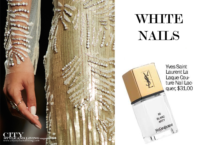 City Style and Living Magazine Summer 2017 beauty trends White Nails