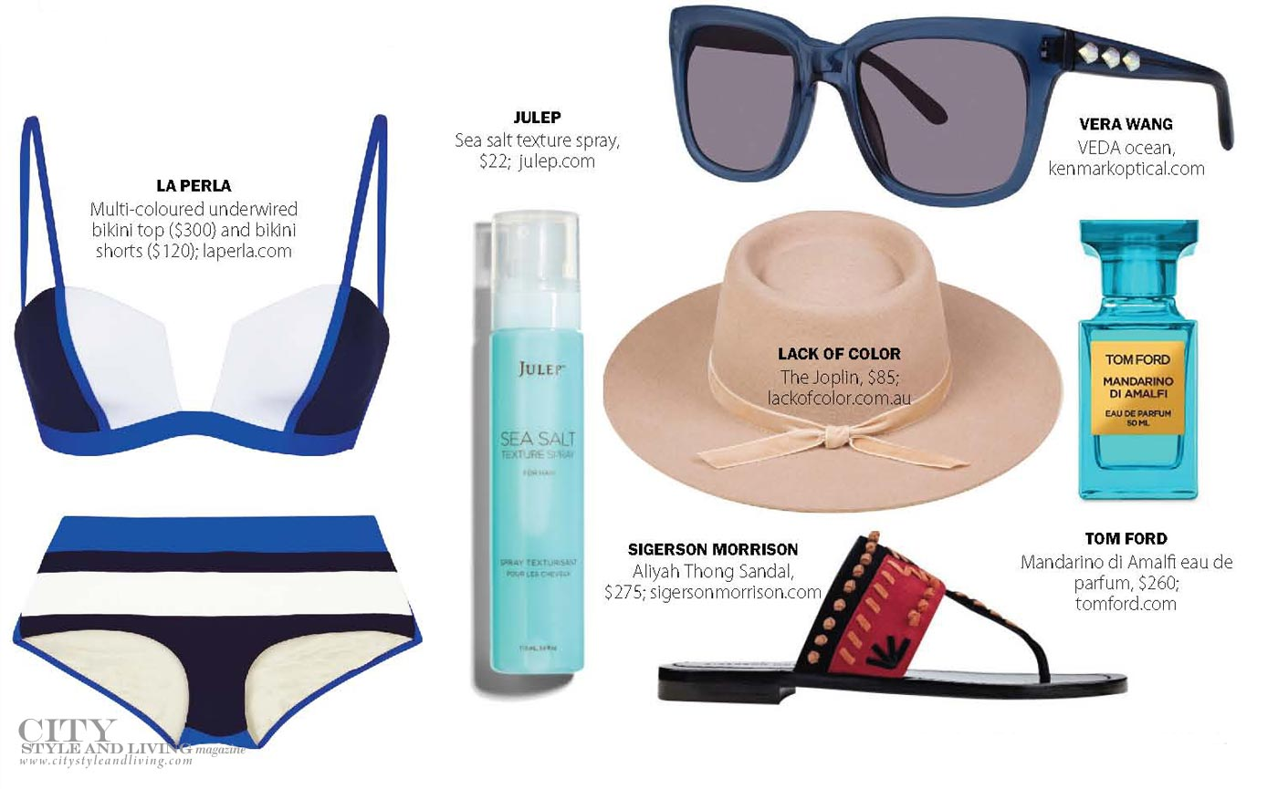 City Style and Living Magazine summer beach essentials 2017