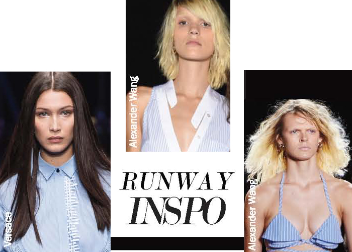 City Style and Living Magazine summer 2017 runway inspiration blue stripes poplin