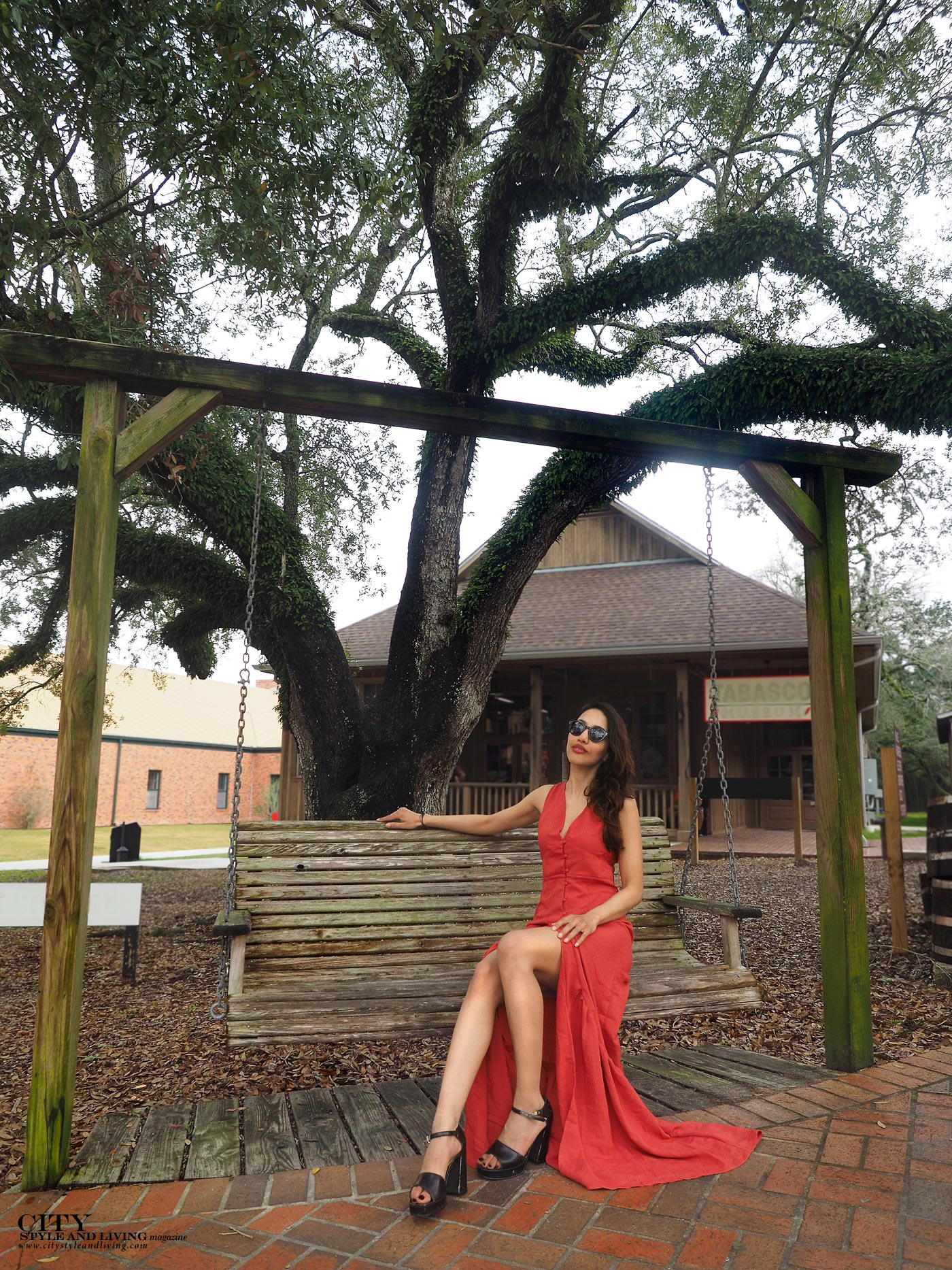 City style and living magazine The Editors Notebook style fashion blogger Shivana Maharaj New Orleans French Quarter Orange Dress Avery Island Tabasco