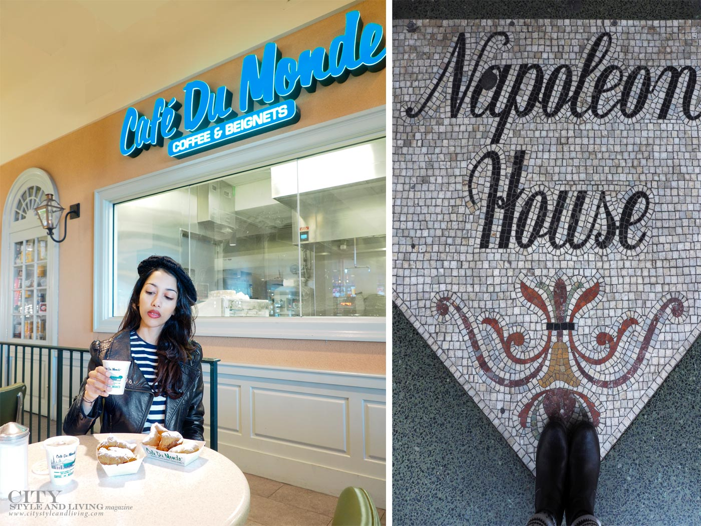 City style and living magazine The Editors Notebook style fashion blogger Shivana Maharaj new orleans cafe du monde and napolean house