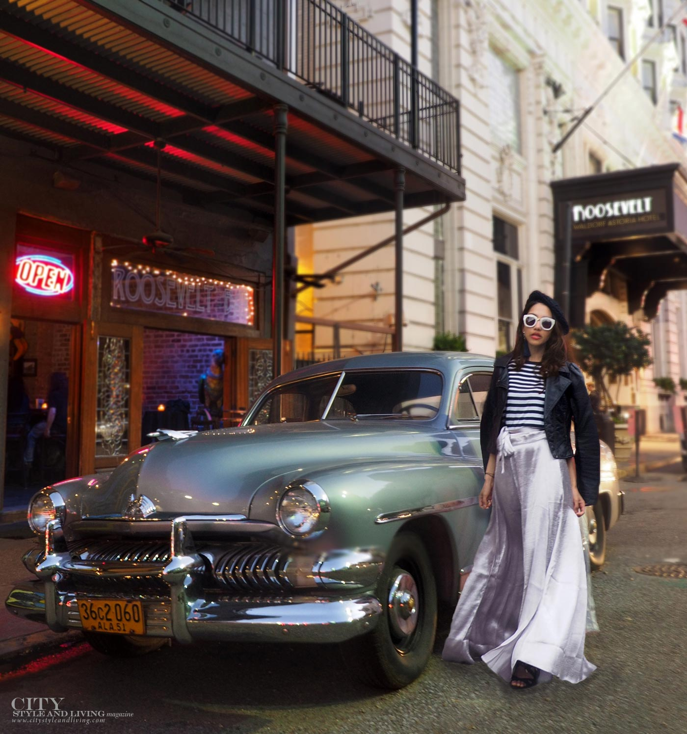 City style and living magazine The Editors Notebook style fashion blogger Shivana Maharaj new orleans old fashioned car