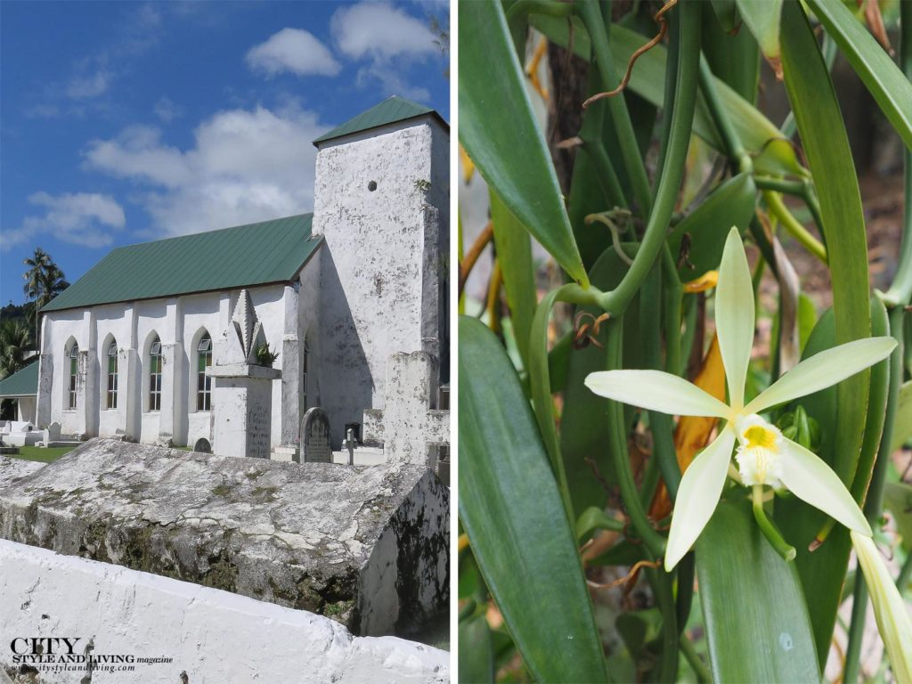 City Style and Living Magazine Rarotonga cook islands church and vanilla flower