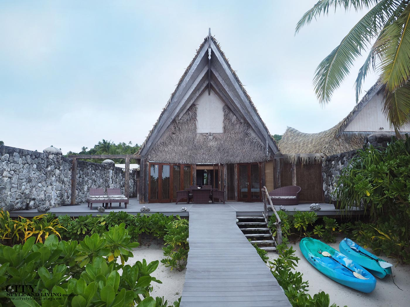 City Style and Living Magazine aitutaki cook islands luxury hotels aitutaki escape villa and long private deck leading to ocean
