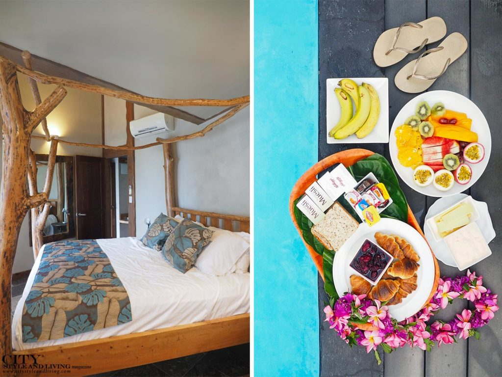 City Style and Living Magazine aitutaki cook islands luxury hotels aitutaki escape four poster bed in bedroom