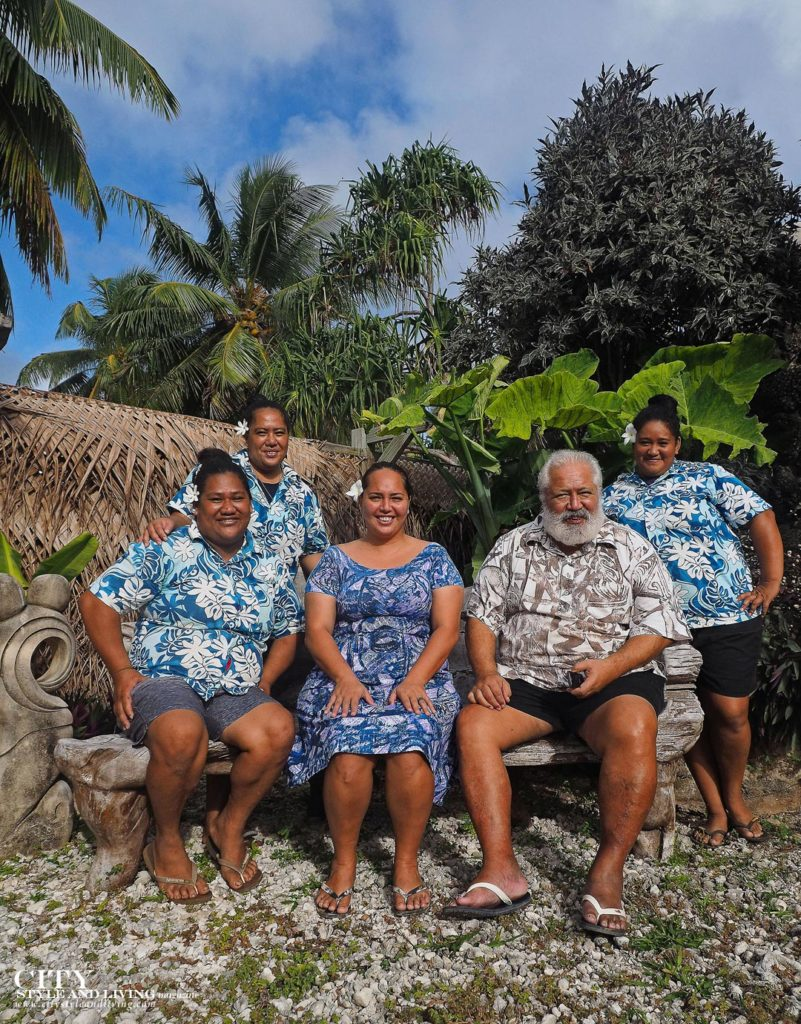 City Style and Living Magazine aitutaki cook islands luxury hotels aitutaki escape thomas koteka and mene with the staff