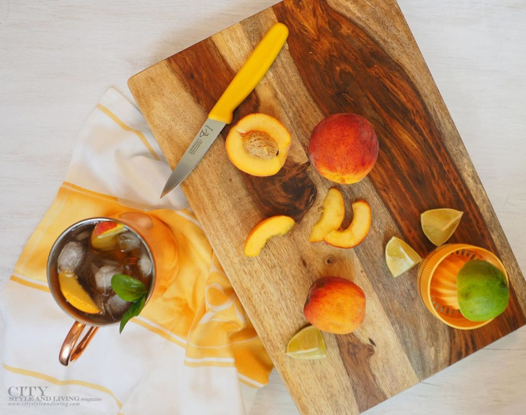 City Style and Living Magazine peach moscow mule final ingredients