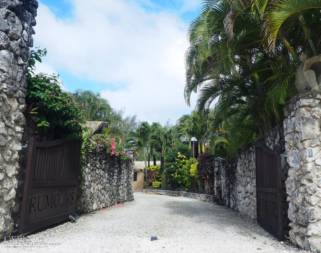 City Style and Living Magazine rarotonga cook islands luxury hotels rumours luxury villas and spa main entrance