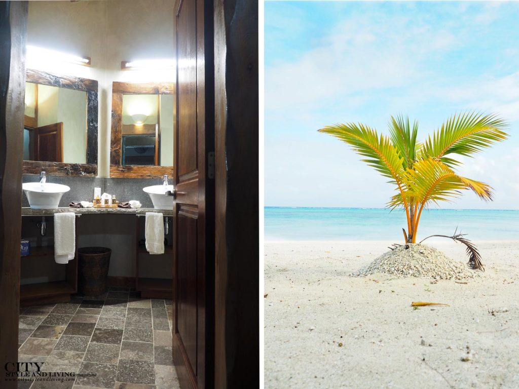 City Style and Living Magazine aitutaki cook islands luxury hotels aitutaki escape bathroom and private beach little palm