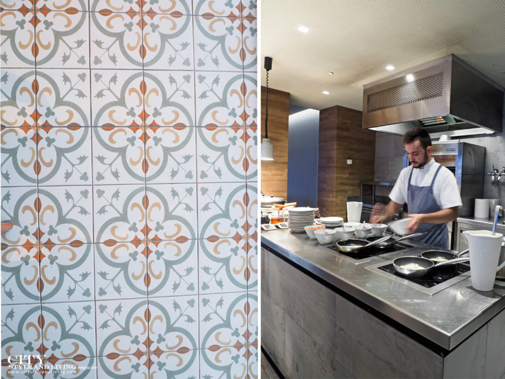City Style and Living Magazine Travel The Azores Portugal azor hotel ponta delgada decorative floor tile and chef in kitchen at A Terra restaurant
