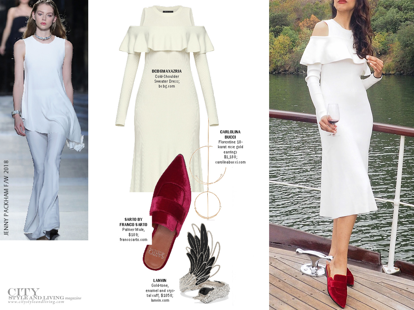 City Style and Living Magazine Winter 2017 holiday look all white