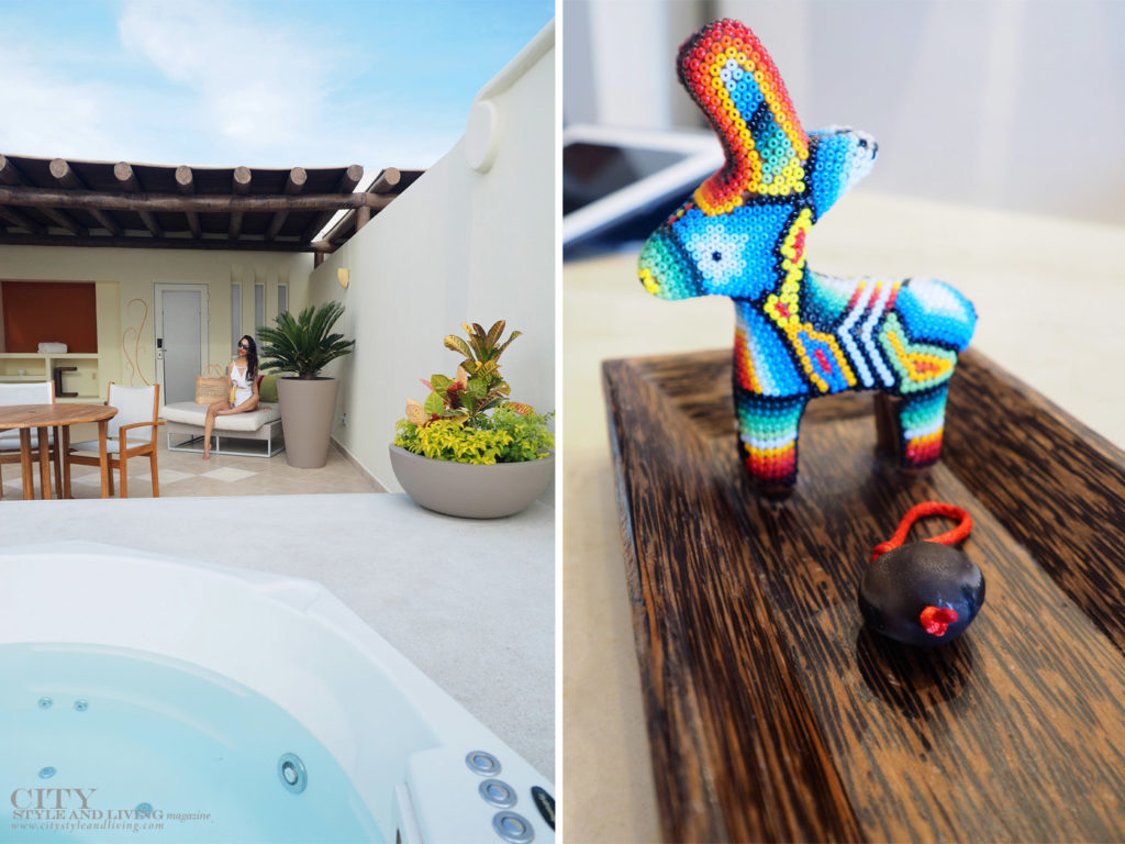 City Style and Living Magazine Jacuzzi and huichol donkey at grand velas Spa