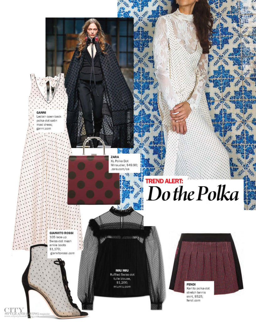 City Style and Living Magazine Polka Dot Fashion trends winter 2017