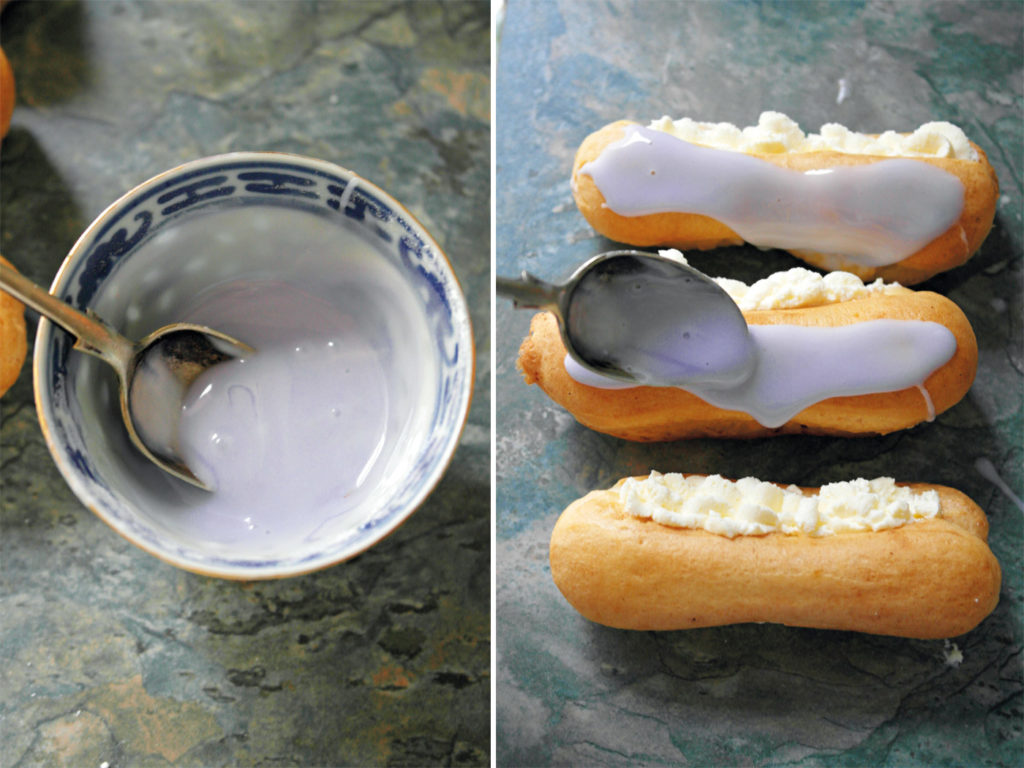City Style and Living Magazine made with love recipe book violet eclairs in progress icing