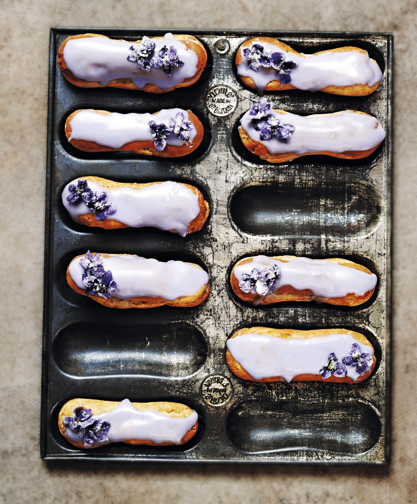 City Style and Living Magazine made with love recipe book violet eclairs finished
