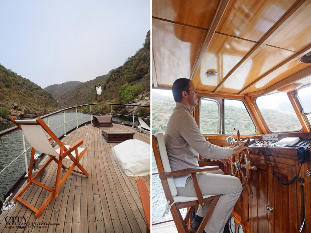 City Style and Living Magazine Travel Portugal Pipa Douro Porto Vintage Wine Travel Deck and Captain Nuno driving