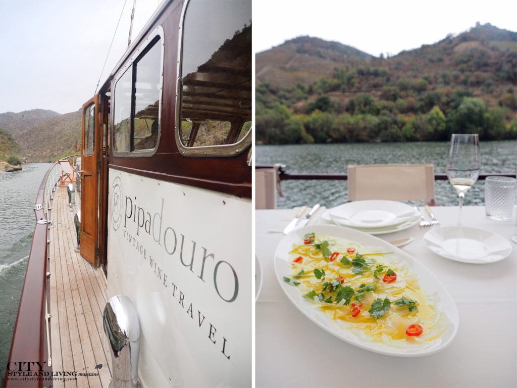City Style and Living Magazine Travel Portugal Pipa Douro Porto Vintage Wine Travel exterior deck and lunch