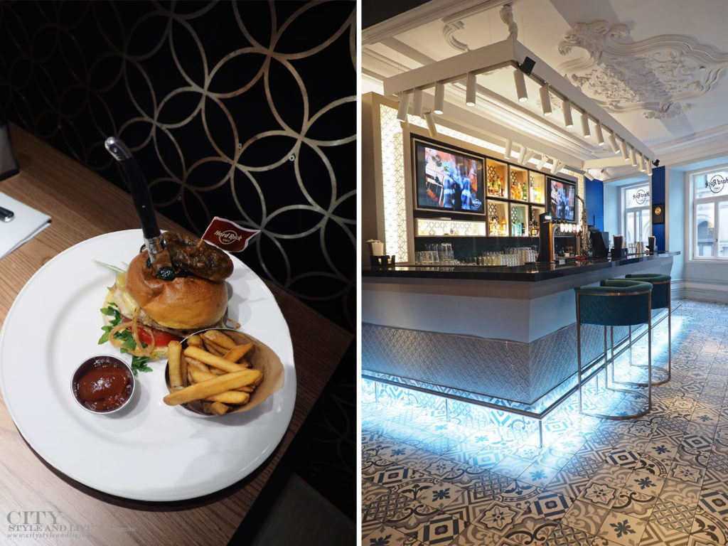 City Style and Living Magazine Travel Portugal HArd Rock Porto burger and inside restaurant