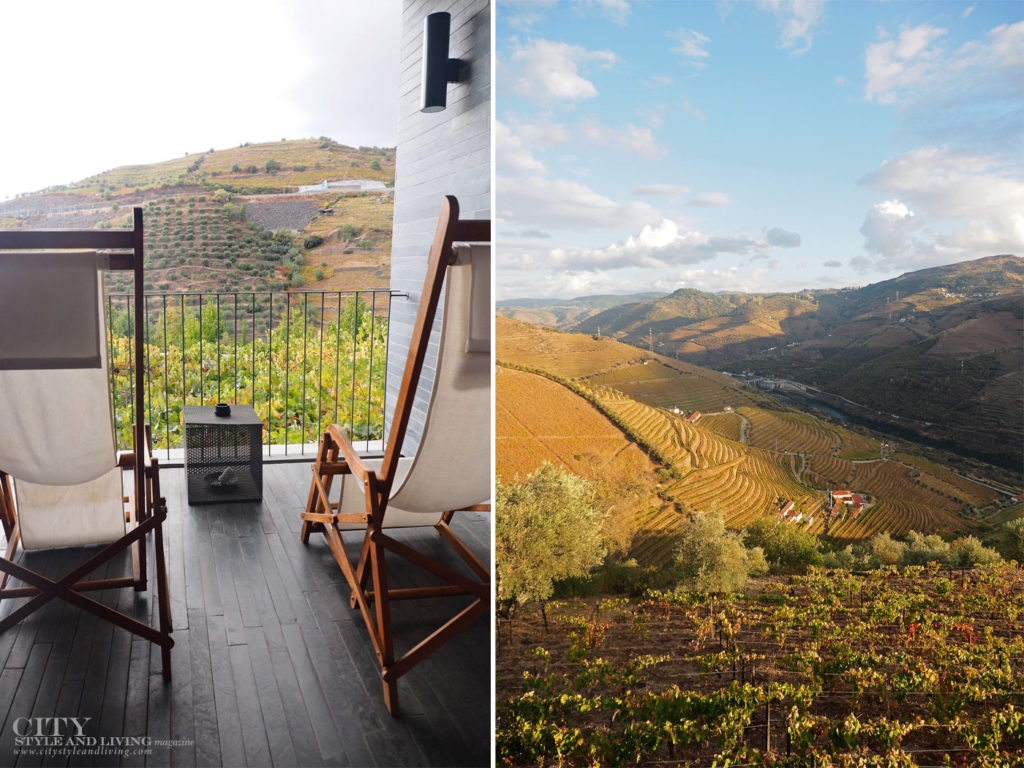 City Style and Living Magazine Travel Portugal Luxury Hotels Quinta Do Vallado deck chairs and douro valley landscape