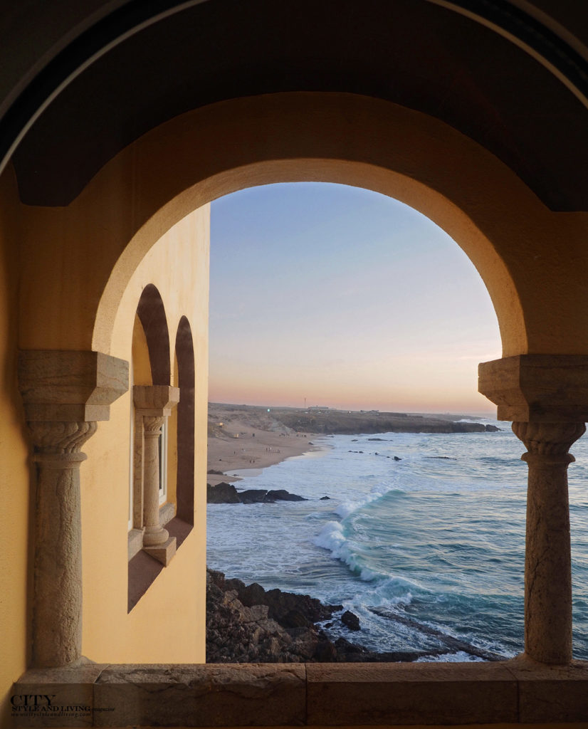 City Style and Living Magazine Travel Portugal Luxury hotels Cascais Fortaleza do guincho view of guincho beach from bedroom balcony