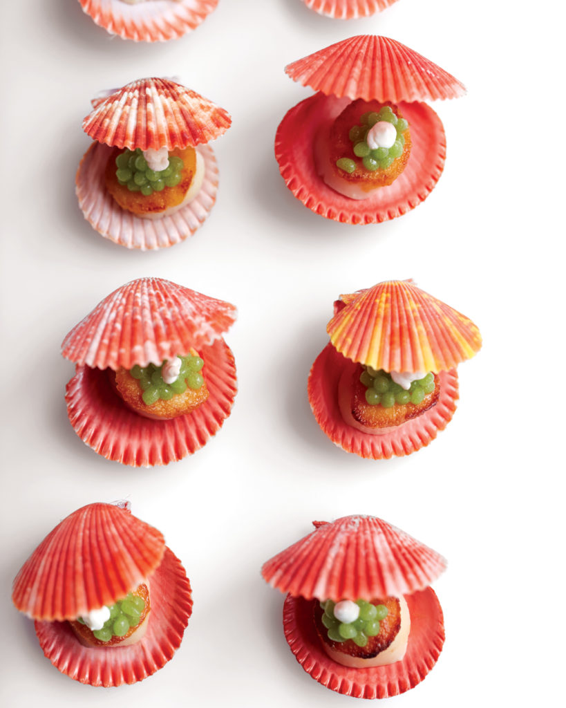 City Style and Living Magazine Food Recipe Scallops and Pearls by Con Poulos