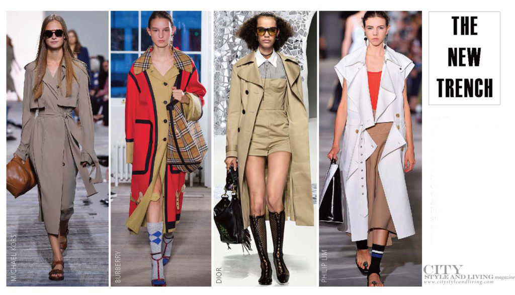 City Style and Living Magazine Fashion Trends Spring 2018 Trench