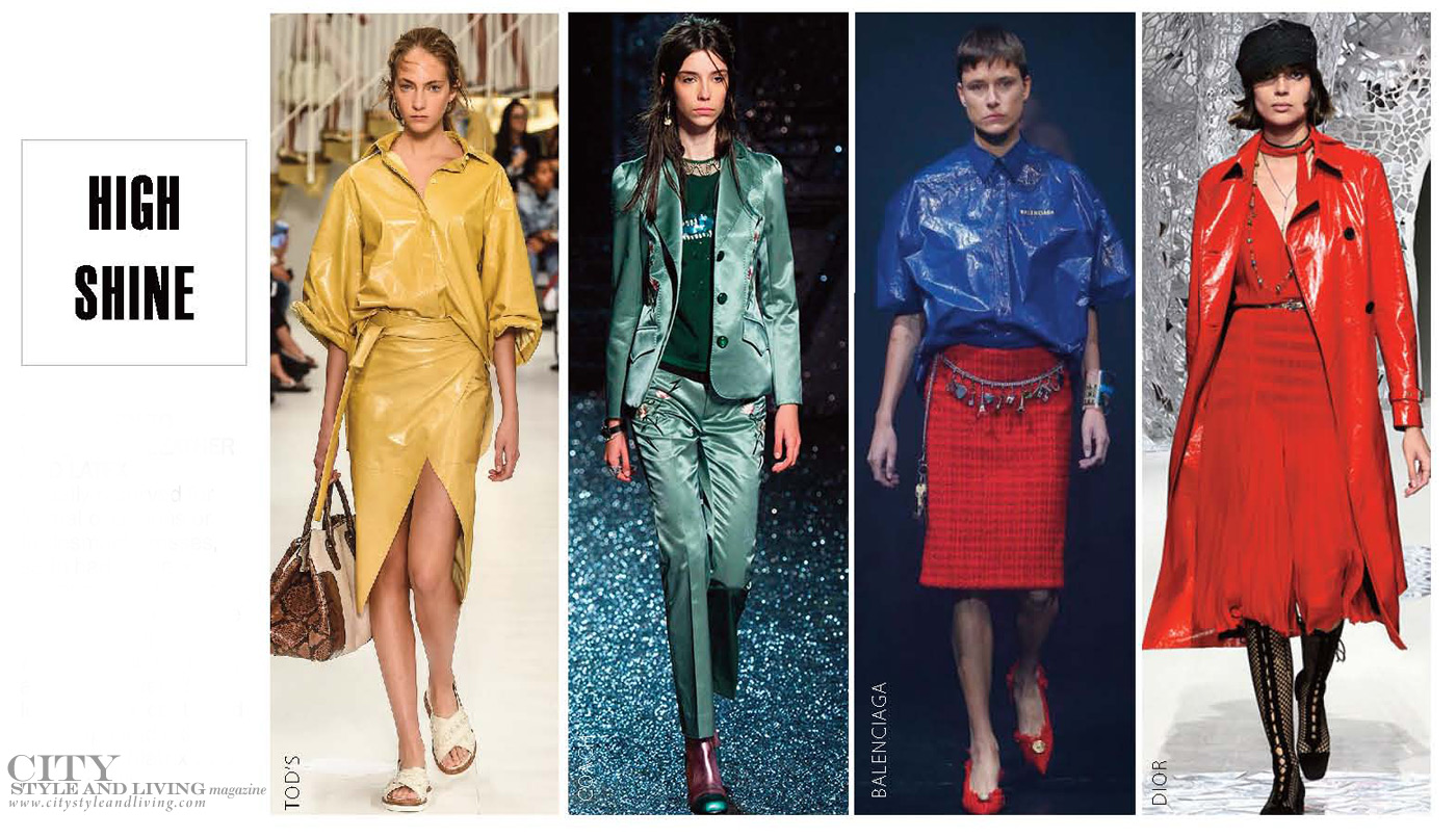City Style and Living Magazine Fashion Trends Spring 2018 High Shine