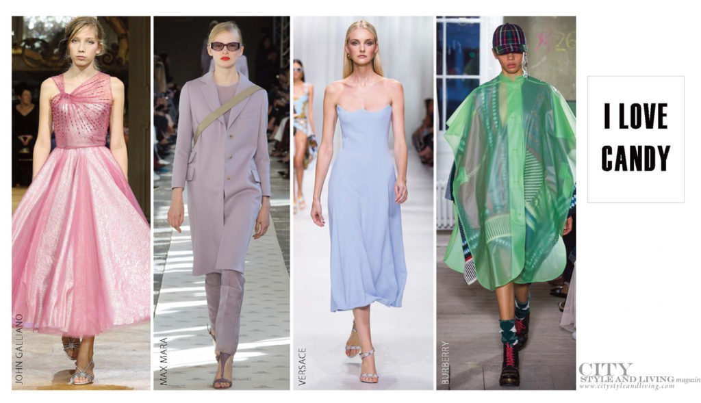 City Style and Living Magazine Fashion Trends Spring 2018 Pastel Colours