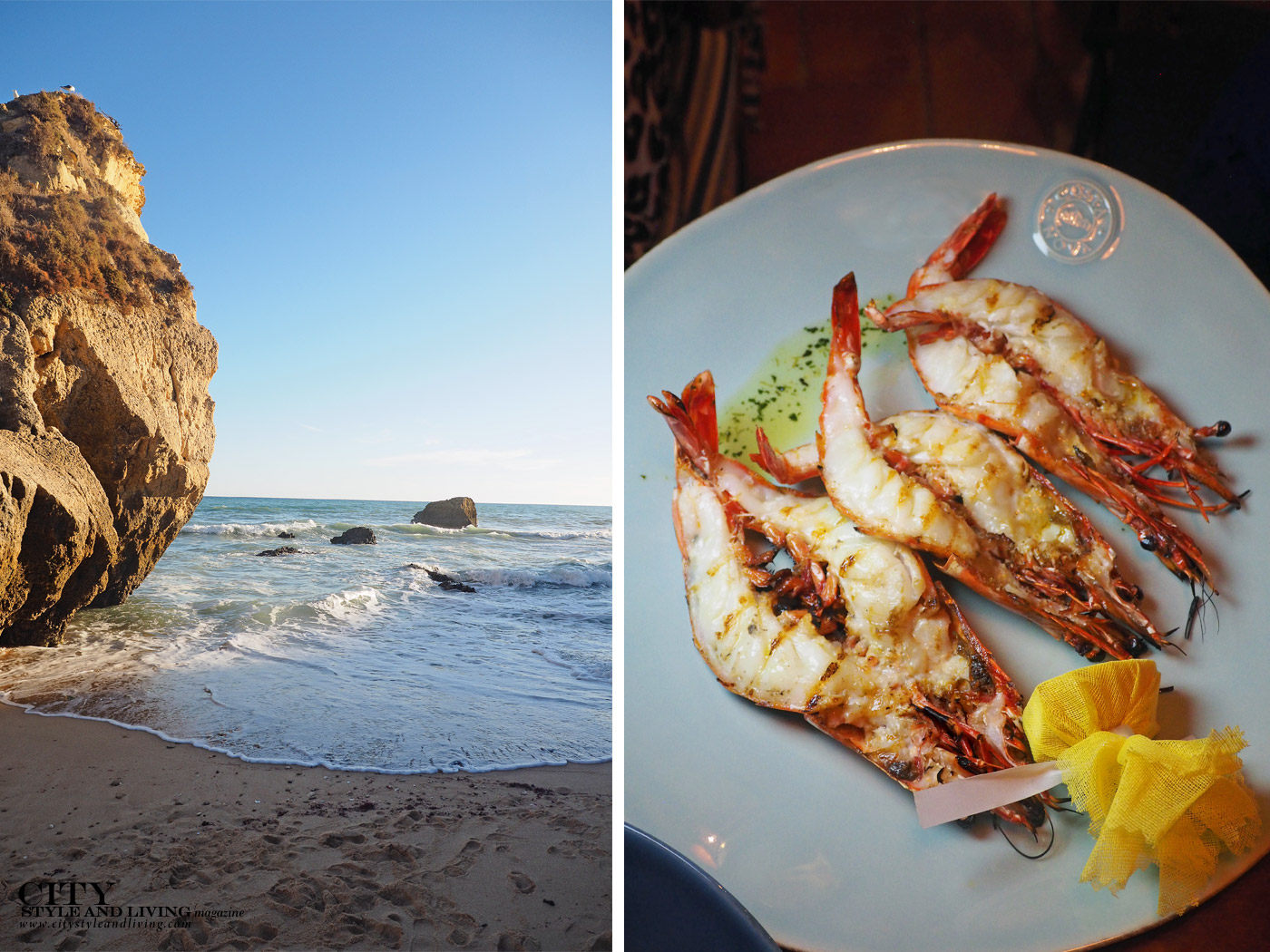 City Style and Living Magazine Travel Portugal Hotels Vila Vita Coastline and Adega prawns