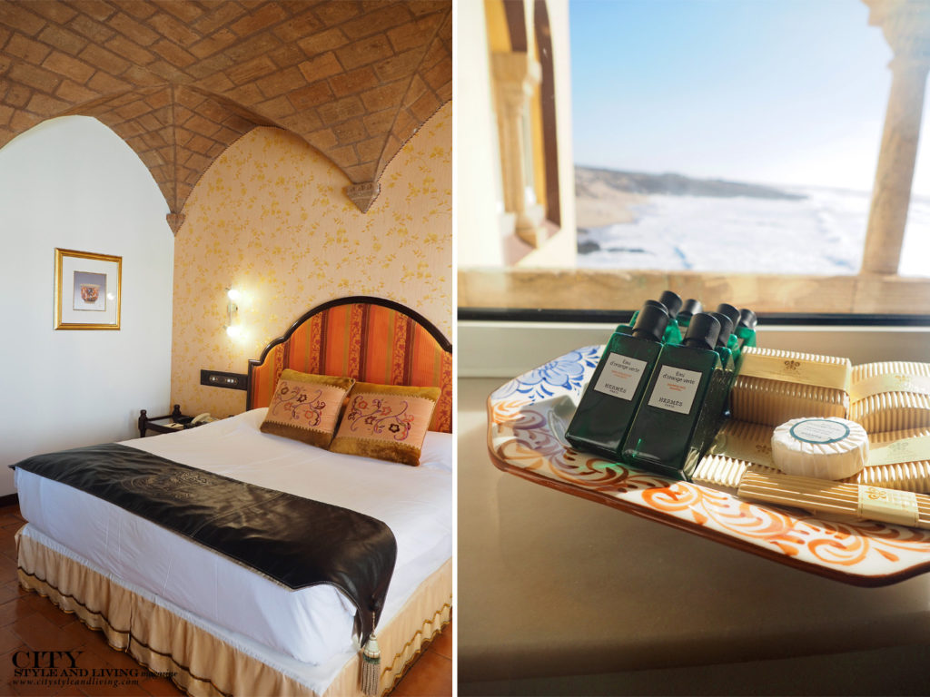 City Style and Living Magazine Travel Portugal Luxury hotels Cascais Fortaleza do guincho bedroom with seaview and amenities
