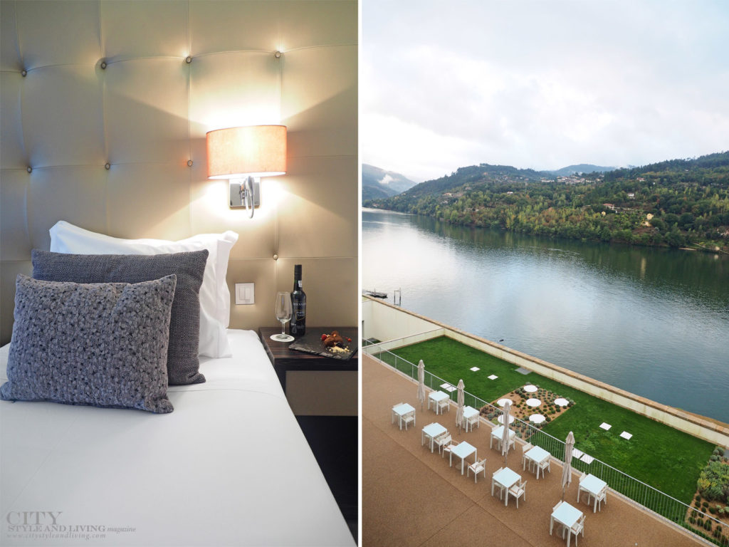 City Style and Living Magazine Travel Portugal Luxury Hotels Douro Royal Valley Hotel and Spa Inside river room and view of douro river