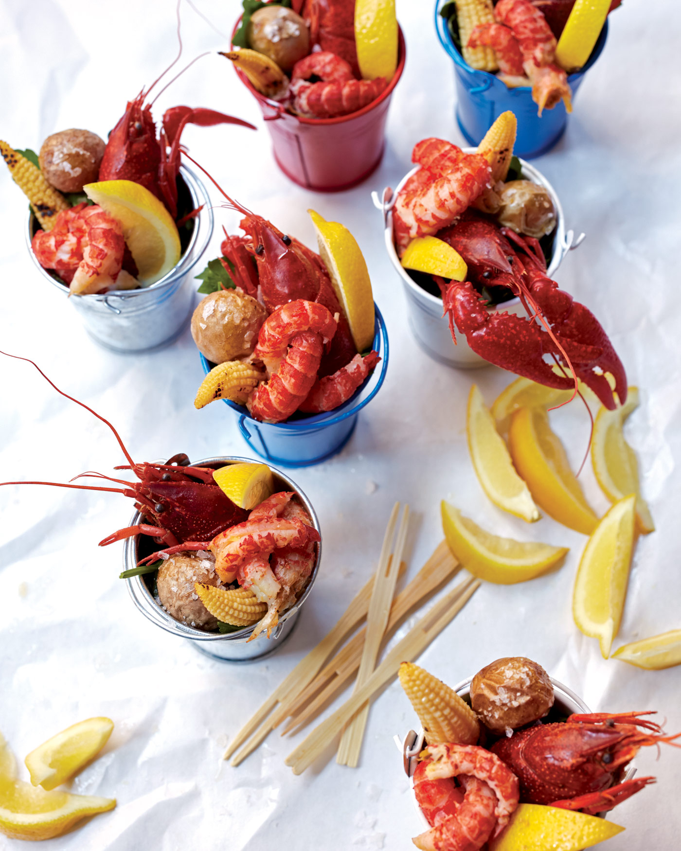 City Style and Living Magazine Food Recipes Mini Lobster Bake Photography by Con Poulos