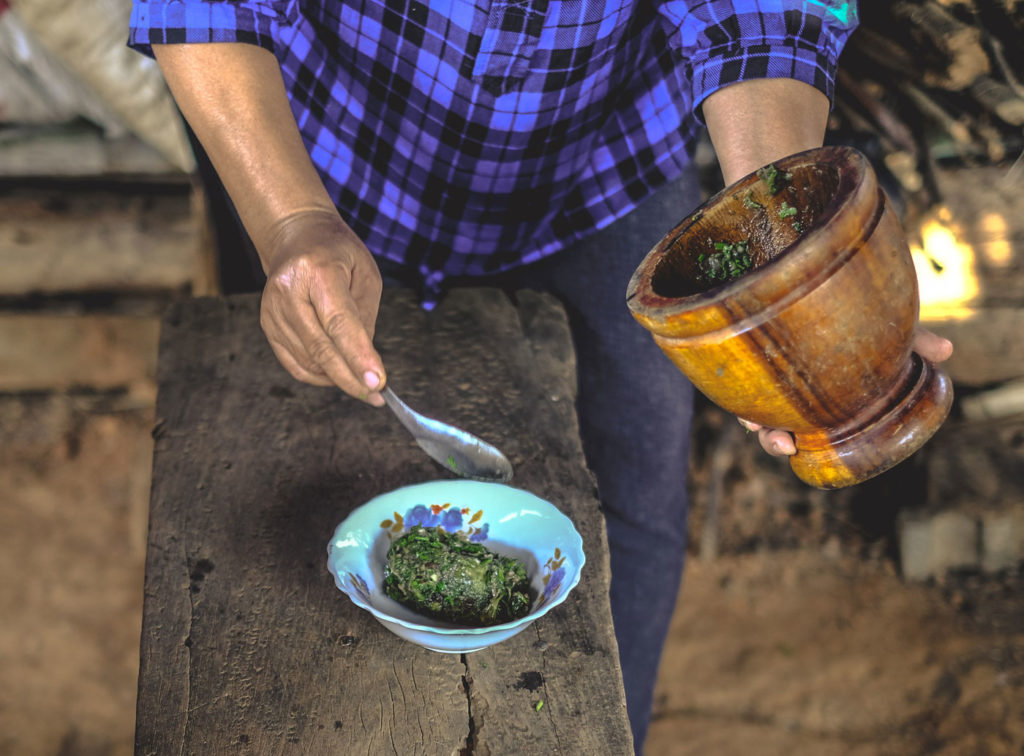 City Style and Living Magazine Edible Northern Thailand: The Roger Van Damme Chronicles Sven Van Coillie A green dip made by hand in a mortar and pestle