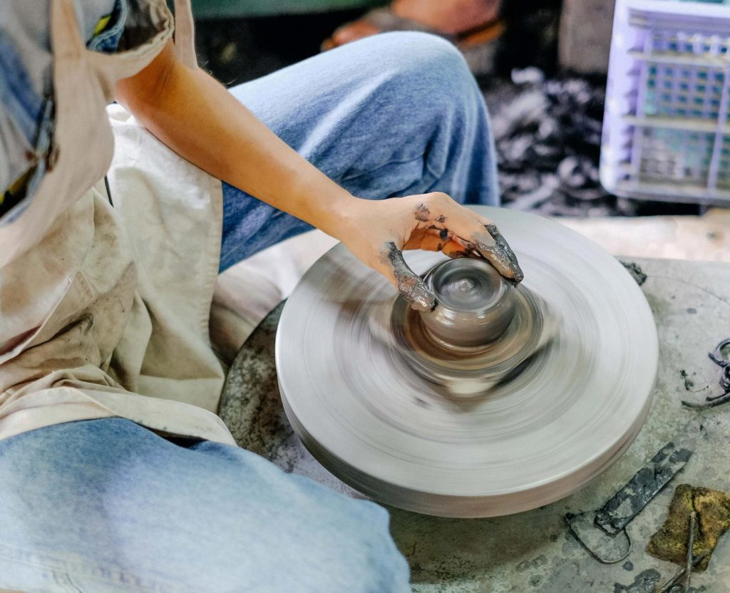 City Style and Living Magazine Edible Northern Thailand: The Roger Van Damme Chronicles Sven Van Coillie Thai artist Doi Din Dang prepares a piece on his pottery wheel