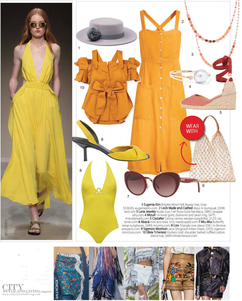 City Style and Living Magazine Fashion Summer 2018 yellow colour of the season