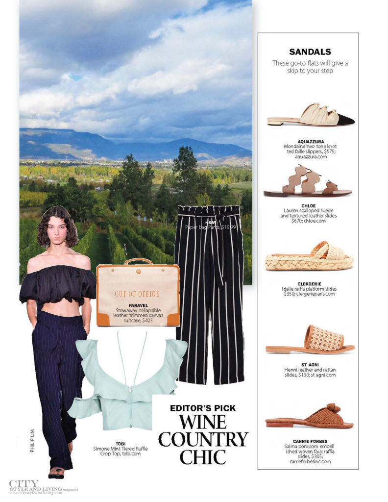 City Style and Living Magazine Fashion Easy Summer Fashion Wine Country