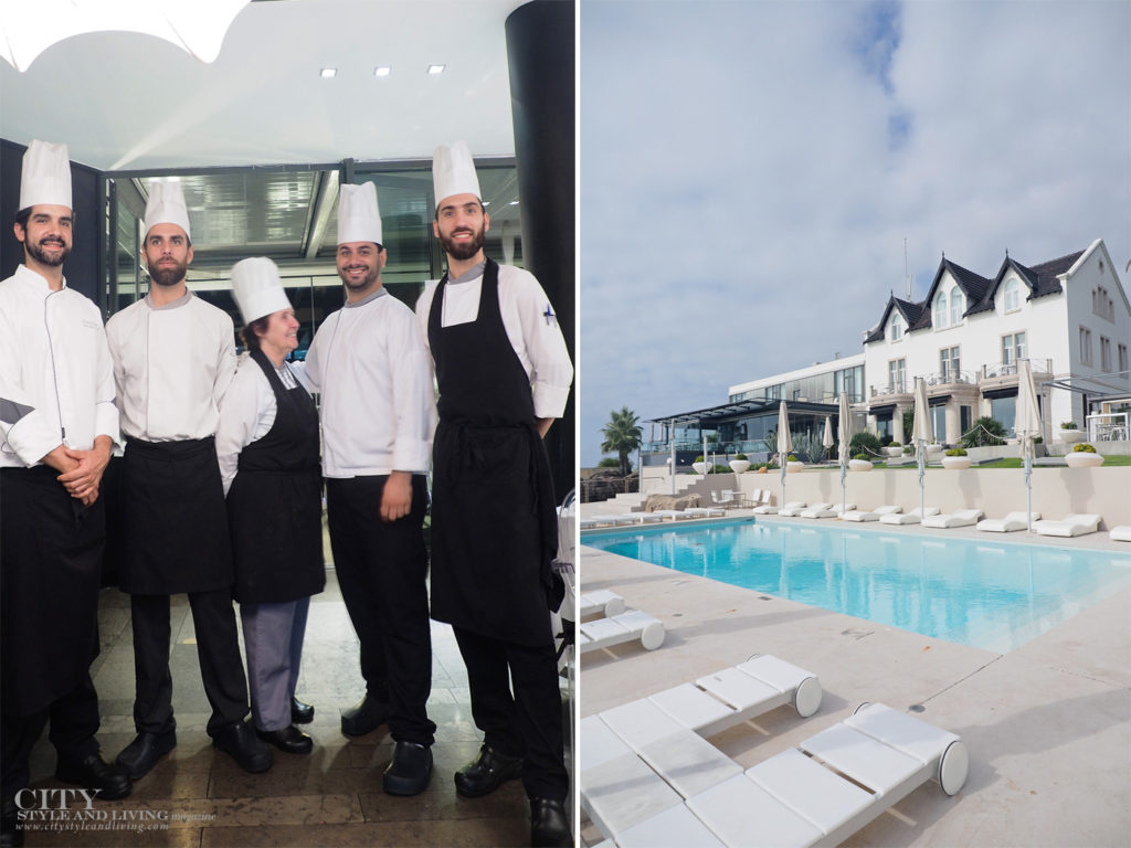 City Style and Living Magazine Travel Hotel Farol Cascais Portugal Chefs and pool view