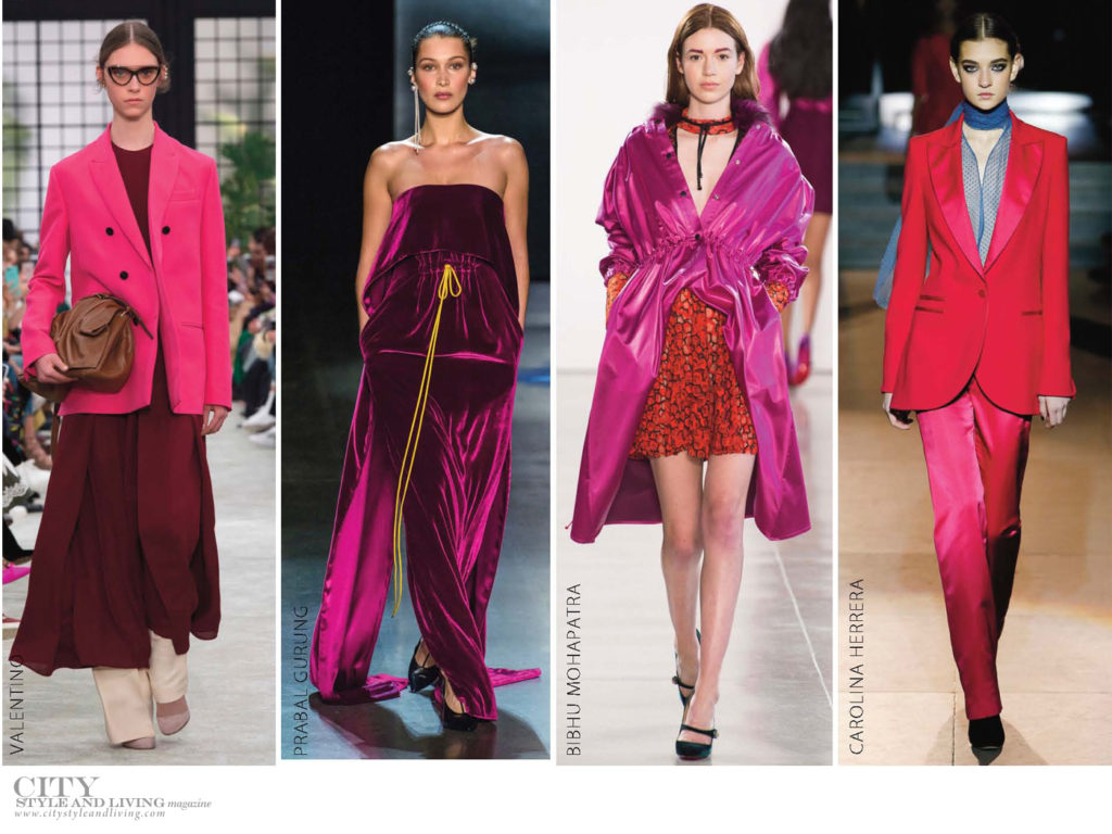 City Style and Living Magazine Fall 2018 trends fuschia