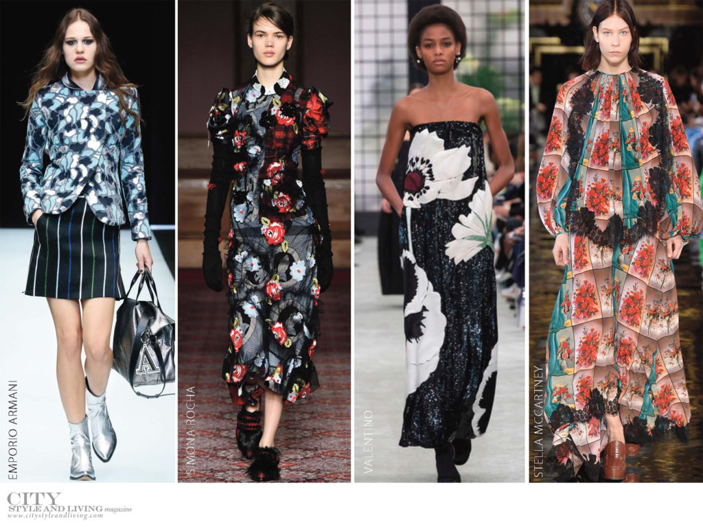 City Style and Living Magazine Fall 2018 trends dark florals