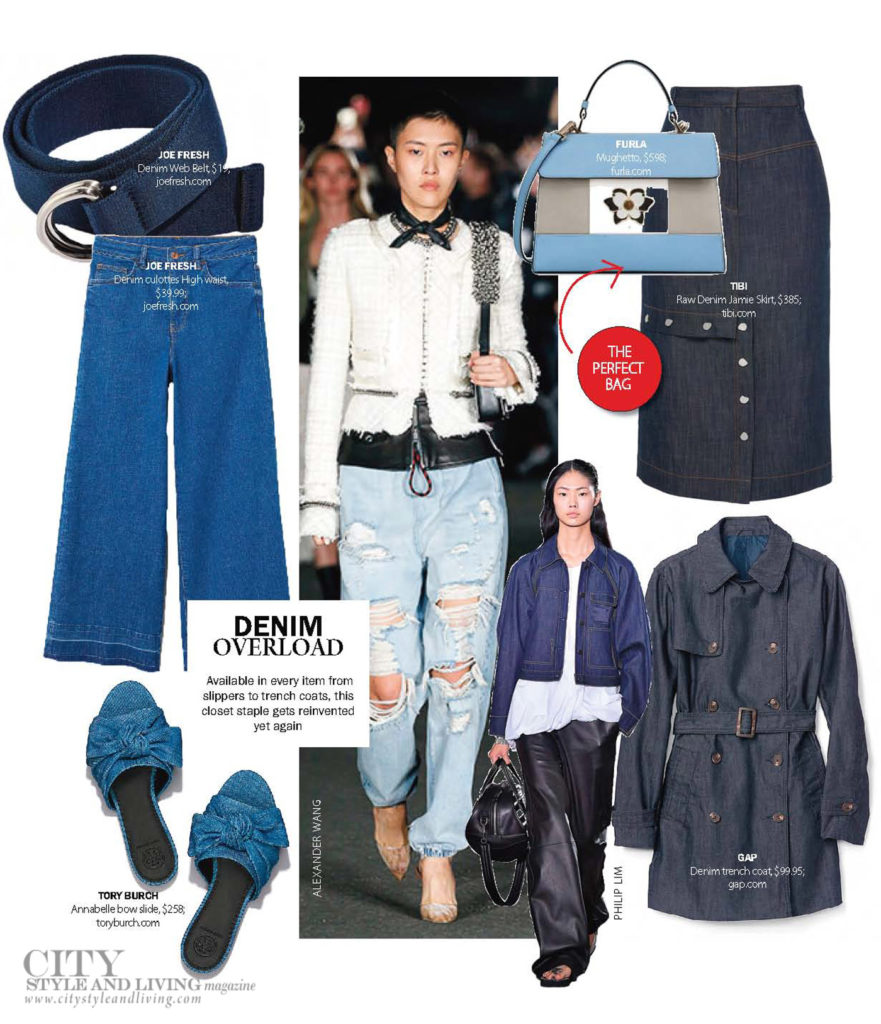 City Style and Living Magazine Fashion Denim chambray for Summer 2018