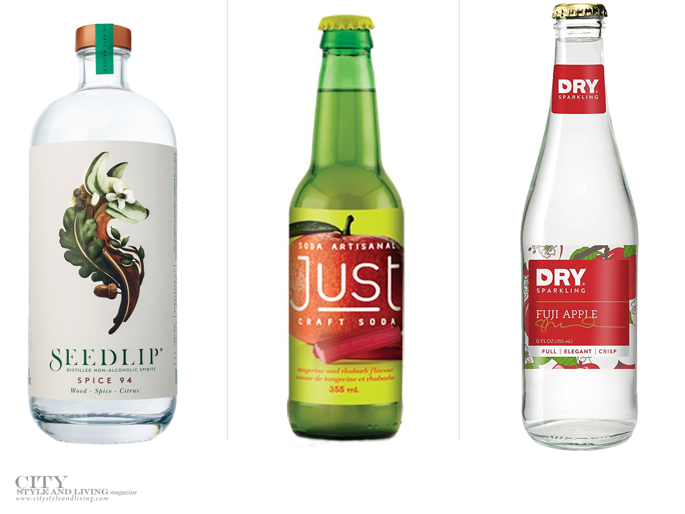 City Style and Living Magazine wines and spirits Summer 2018 non alcoholic beverages