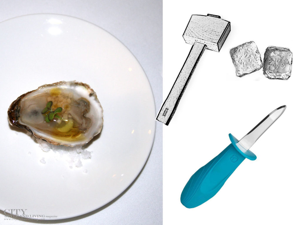 City Style and Living Magazine oyster mignonette and oyster knife