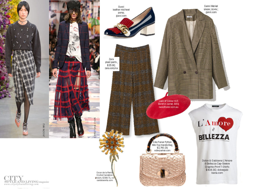 City Style and Living Magazine Fall 2018 Fashion Trends plaid and check