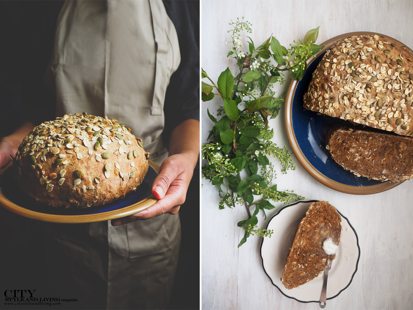 City Style and Living Magazine Molases Bread recipe