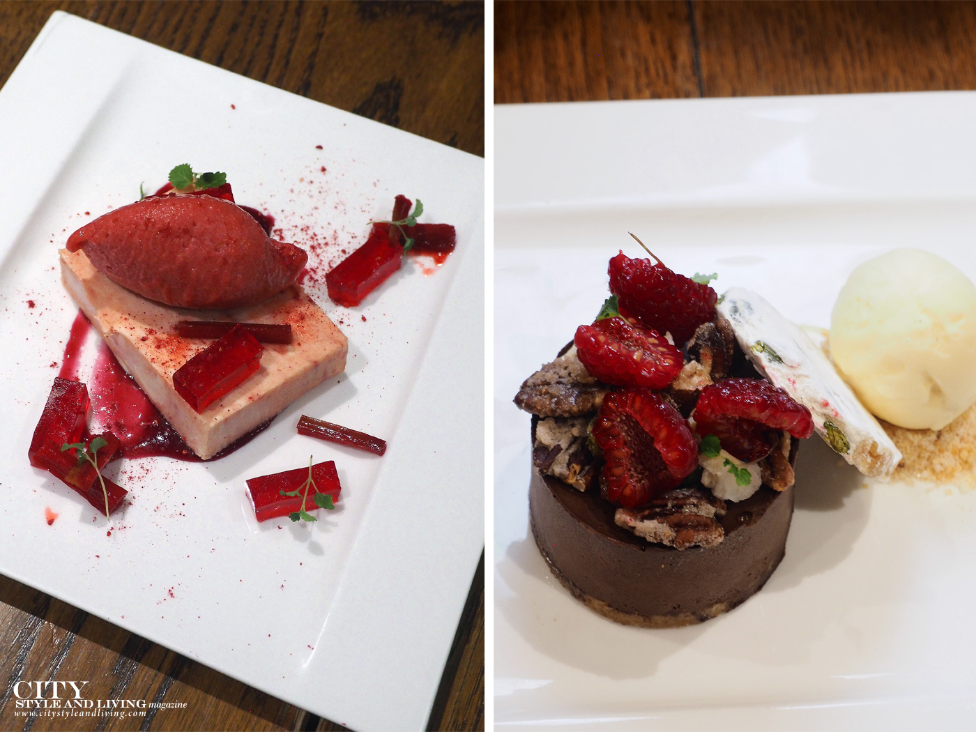 City Style and Living Magazine Winter 2018 Travel Wales Luxury Hotel Holm House Penarth desserts at restaurant