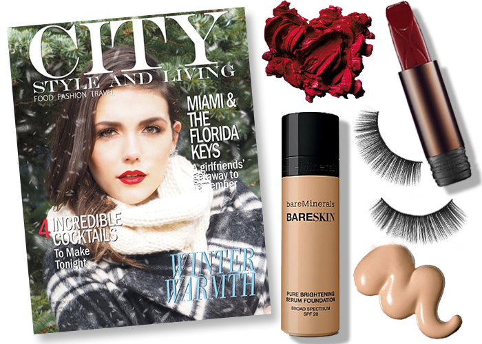 city style and living magazine winter 2014 beauty look