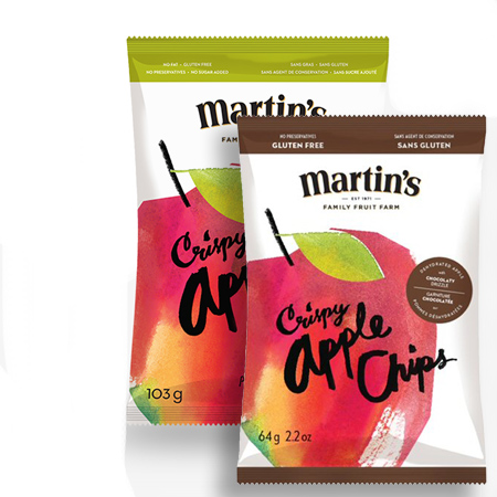 martins crisipy apple chips bags