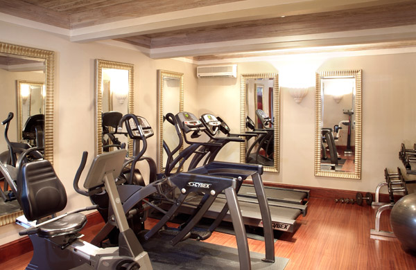 Fairmont Royal Pavillion Barbados Health Club Fitness Room. /Courtesy Fairmont