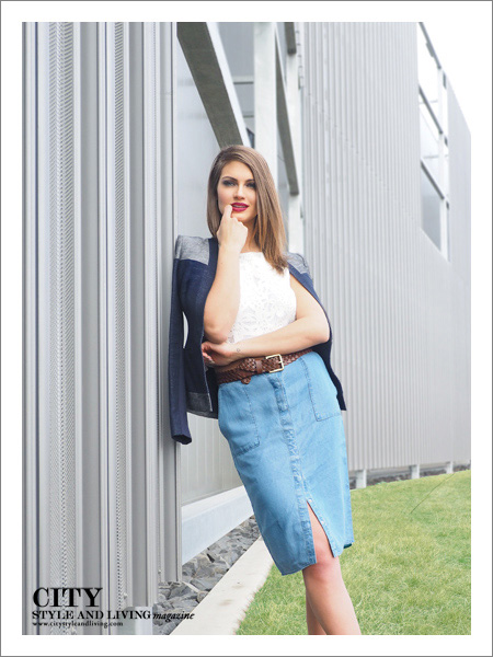City Style and Living Magazine Fashion Editorial Telus Spark Summer 2015 Standing